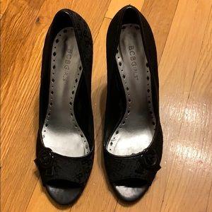 BCBGirls black stiletto heels size 9/39.